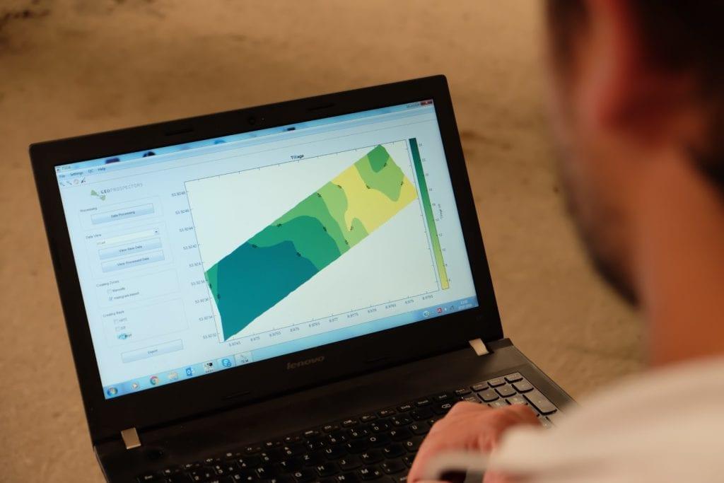 Software für die Topsoil Mapper Kartierung am Laptop